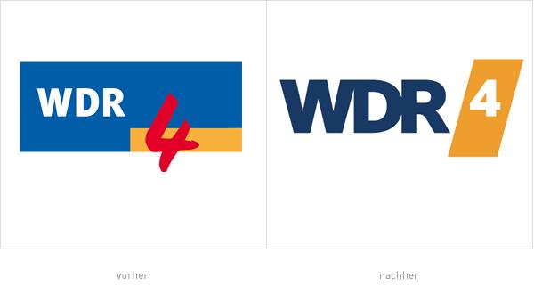 WDR4 Logo – vorher und nachher