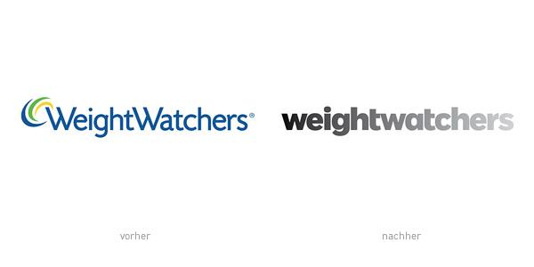 Weight Watchers Logo – vorher und nachher