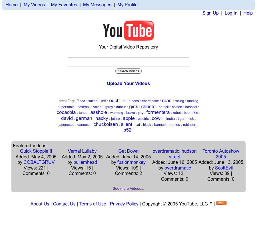 YouTube.com – 2005
