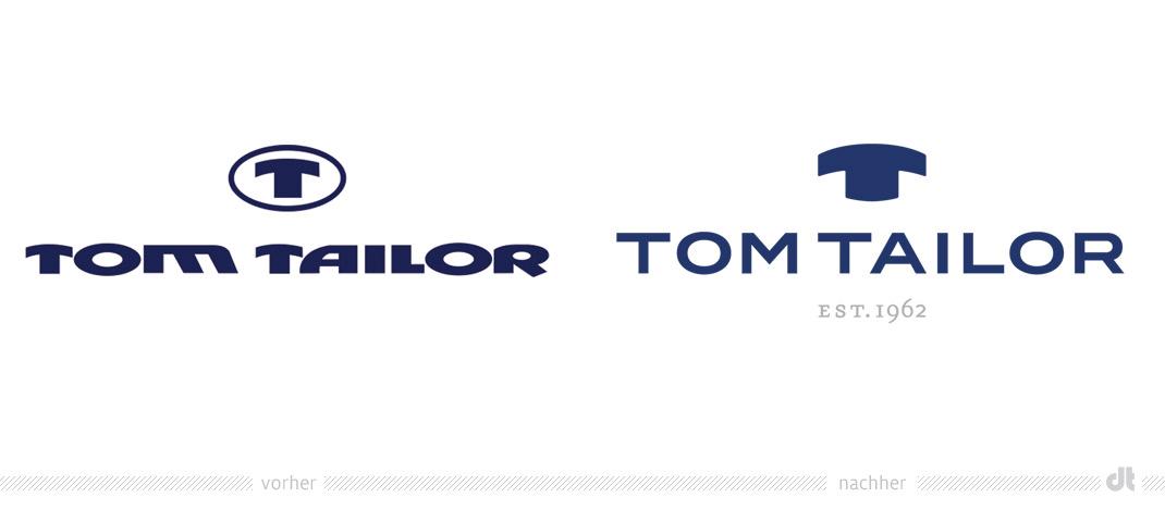 TOM TAILOR Logo – vorher und nachher – Design Tagebuch