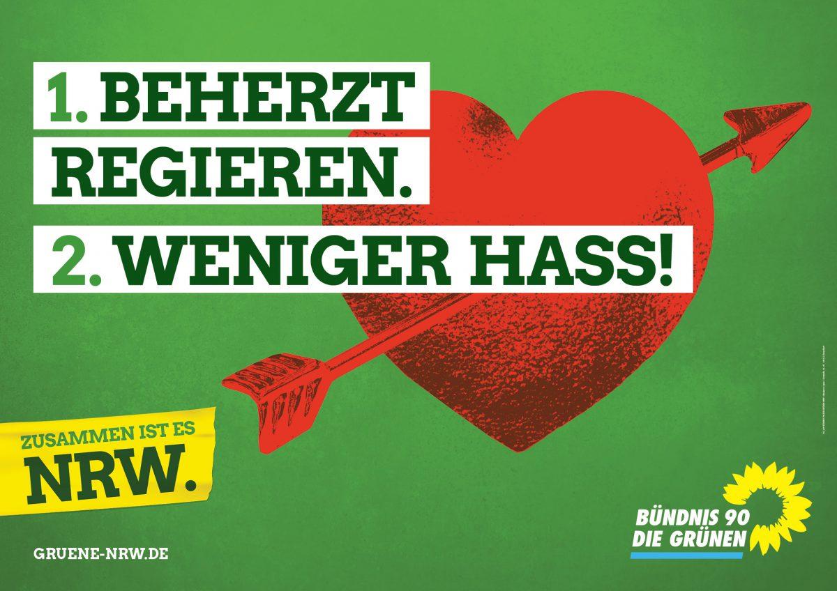 Grünen Wahlplakat
