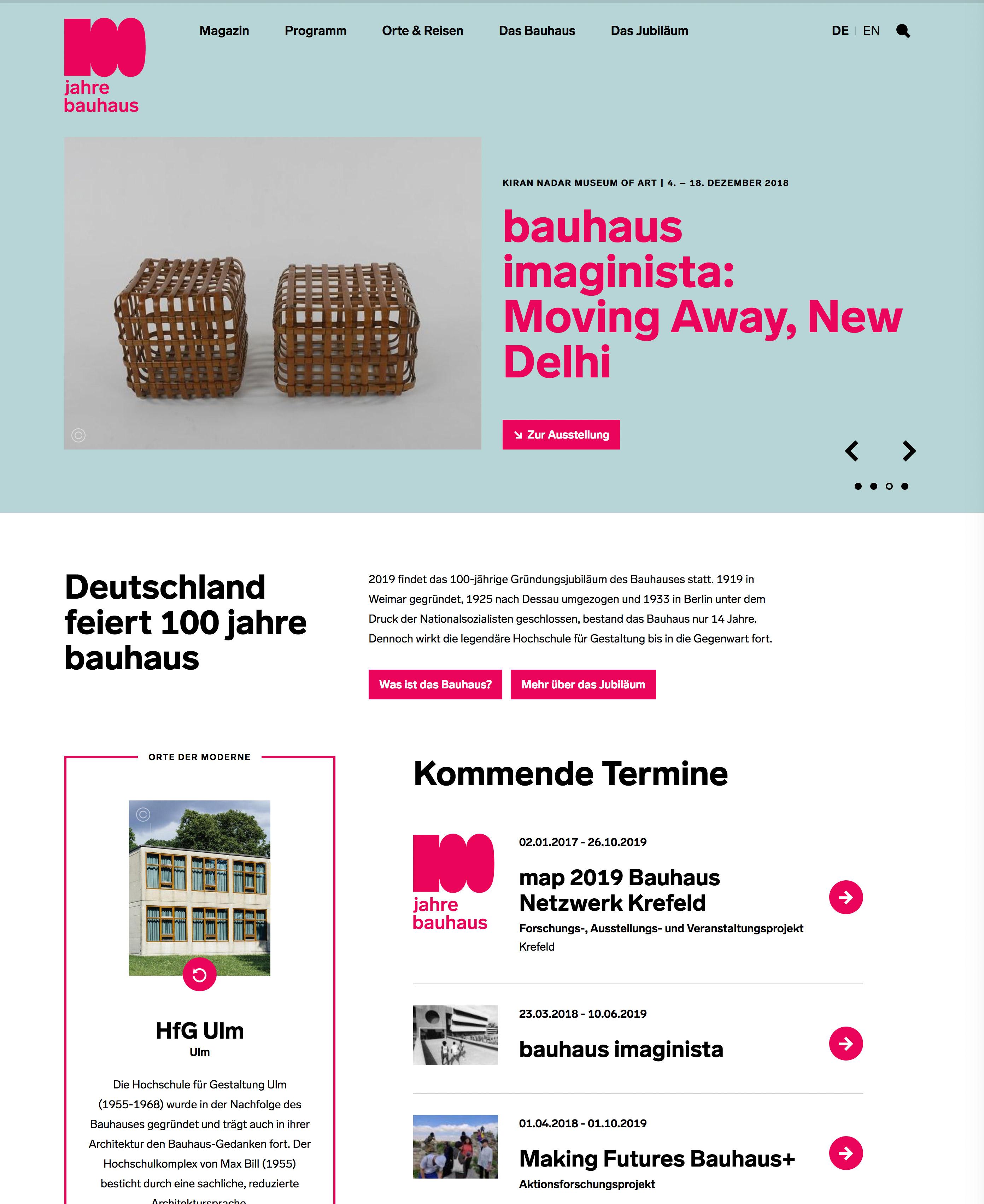 Bauhaus Homepage