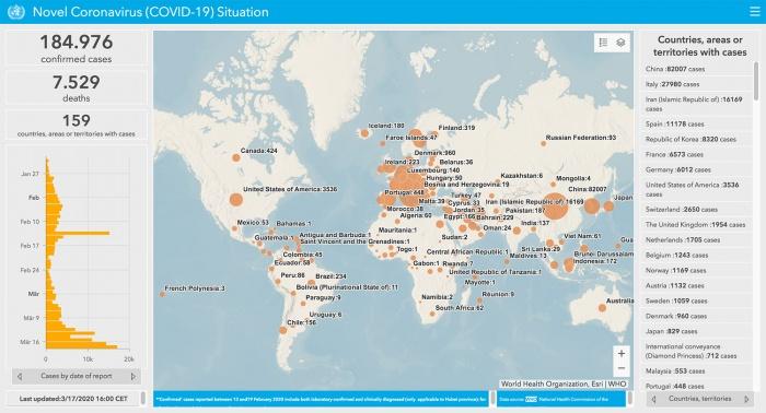 interaktive karten zur verfolgung der weltweiten