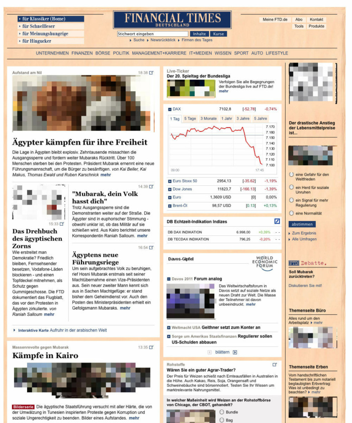 Homepage FTD.de – bis 09/2012